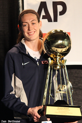 UConn's Breanna Stewart has now won two straight AP Player of the Year awards.
