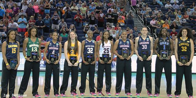The ten member 2015 WBCA Division All-American Team
