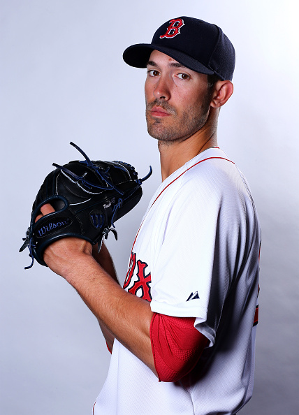 FORT MYERS, FL - MARCH 01:  Rick Porcello #22 of the Boston Red Sox poses for a portrait on March 1, 2015 at JetBlue Park in Fort Myers, Florida.  (Photo by Elsa/Getty Images)