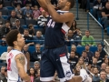 UConn's Rodney Purvis (44) puts up a runner during the 2015 American Athletic Conference men's championship finals between the SMU Mustangs and the UConn Huskies at the XL Center in Hartford, CT.
