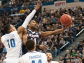 UConn's Rodney Purvis (44) drives to the basket during the American Athletic Conference men's championship semifinals between the Tulsa Golden Hurricane and the UConn Huskies at the XL Center in Hartford, CT.