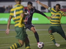 August 29, 2015: Ottawa Fury FC versus the Tampa Bay Rowdies in the NASL at TD Place Stadium in Ottawa, Canada. The Rowdies fought back from 2-0 down to tie the match 2-2 and take home a valuable point. Photo: © Steve Kingsman. For Ottawa Fury use ONLY. Not to be used, copied or transferred without permission.
