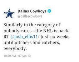 DallasCowboysNHLTweet