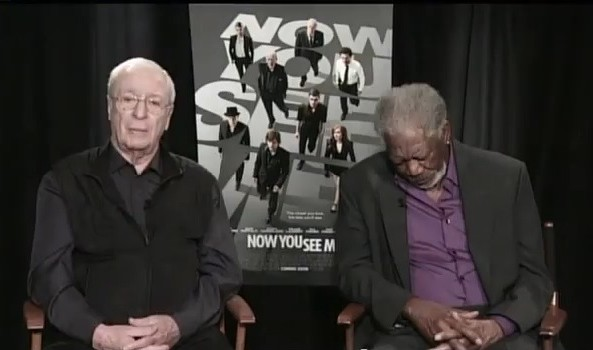 Morgan Freeman asleep