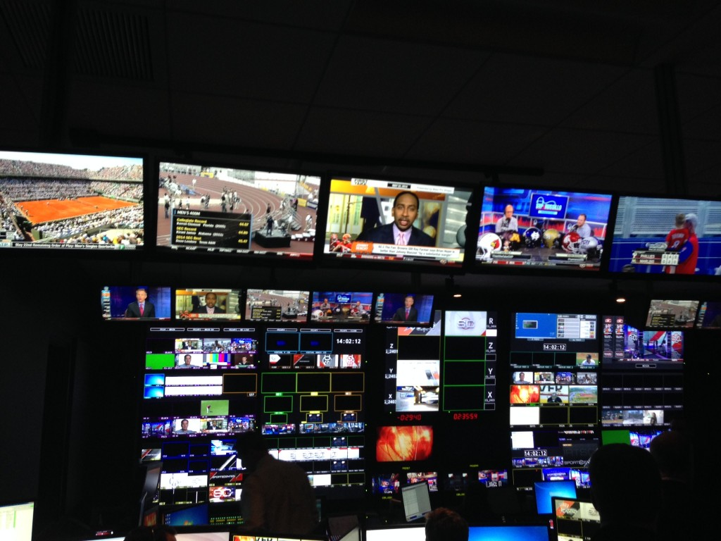One of many control rooms in Digital Center 2