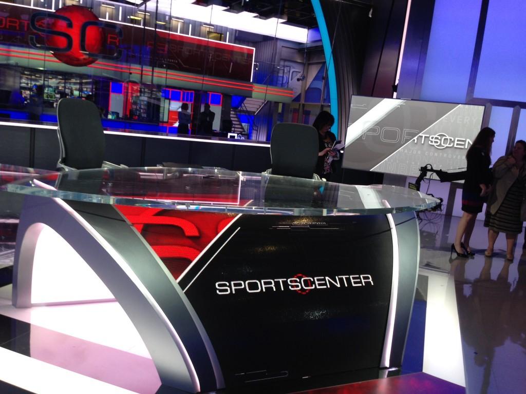The main SportsCenter desk