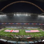 LONDON, ENGLAND - OCTOBER 27:  A general view of Wembley Stadium ahead of the NFL International Series game between San Francisco 49ers and Jacksonville Jaguars at Wembley Stadium on October 27, 2013 in London, England. (Photo by Nicky Hayes/NFL UK - Pool /Getty Images)