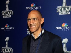 INDIANAPOLIS, IN - JANUARY 31:  NBC studio analyst Tony Dungy looks on during the Super Bowl XLVI Broadcasters Press Conference at the Super Bowl XLVI Media Canter in the J.W. Marriott Indianapolis on January 31, 2012 in Indianapolis, Indiana.  (Photo by Scott Halleran/Getty Images)