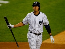 NEW YORK, NY - SEPTEMBER 25:  Alex Rodriguez #13 of the New York Yankees reacts after striking out in the fifth inning against the Tampa Bay Rays at Yankee Stadium on September 25, 2013 in the Bronx borough of New York City. Rays defeated the Yankees 8-3. (Photo by Mike Stobe/Getty Images)