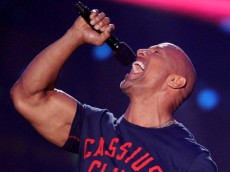 LOS ANGELES, CA - JULY 17:  Actor Dwayne Johnson speaks onstage during Nickelodeon Kids' Choice Sports Awards 2014 at UCLA's Pauley Pavilion on July 17, 2014 in Los Angeles, California.  (Photo by Kevin Winter/Getty Images)