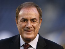 SAN DIEGO, CA - DECEMBER 07:  TV personality Al Michaels stands on the field before a game between the New England Patriots and the San Diego Chargers at Qualcomm Stadium on December 7, 2014 in San Diego, California.  (Photo by Todd Warshaw/Getty Images)