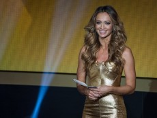 ZURICH, SWITZERLAND - JANUARY 12: Presenter Kate Abdo smiles during the FIFA Ballon d'Or Gala 2014 at the Kongresshaus on January 12, 2015 in Zurich, Switzerland. (Photo by Philipp Schmidli/Getty Images)