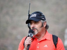 MARANA, AZ - FEBRUARY 22:  David Feherty reports on the action for CBS Sports during the quarterfinal round of the World Golf Championships - Accenture Match Play Championship at The Golf Club at Dove Mountain on February 22, 2014 in Marana, Arizona.  (Photo by Sam Greenwood/Getty Images)