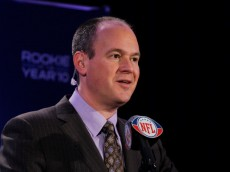 DALLAS, TX - FEBRUARY 03:  NFL Network sportscaster Rich Eisen attends a press conference where Ndamukong Suh #90 of the Detroit Lions was awarded Pepsi's 2010 NFL Rookie of the Year Award at the Super Bowl XLV media center on February 3, 2011 in Dallas, Texas. The Green Bay Packers will play the Pittsburgh Steelers in Super Bowl XLV on February 6, 2011 at Cowboys Stadium in Arlington, Texas.  (Photo by Scott Halleran/Getty Images)