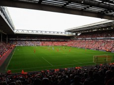 LIVERPOOL, ENGLAND - AUGUST 26:  A general view of the stadium during the Barclays Premier League match between Liverpool and Manchester City at Anfield on August 26, 2012 in Liverpool, England.  (Photo by Michael Regan/Getty Images)