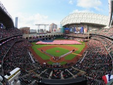 HOUSTON, TX - APRIL 06:  A general view on Opening Day at Minute Maid Park on April 6, 2015 in Houston, Texas.  (Photo by Bob Levey/Getty Images)