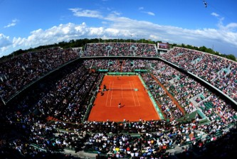 PARIS, FRANCE - JUNE 08:  A general view of court Philippe Chatrier during the men's singles semi final match between Novak Djokovic of Serbia and Roger Federer of Switzerland during day 13 of the French Open at Roland Garros on June 8, 2012 in Paris, France.  (Photo by Mike Hewitt/Getty Images)