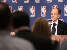 NEW YORK, NY - OCTOBER 25:  Glen Taylor, owner of the Minnesota Timberwolves, speaks to the media following the NBA Board of Governors Meeting, during which Commissioner David Stern outlined his plans to step down in February 2014 at the St. Regis hotel on October 25, 2012 in New York City. NOTE TO USER: User expressly acknowledges and agrees that, by downloading and/or using this Photograph, user is consenting to the terms and conditions of the Getty Images License Agreement.  (Photo by Alex Trautwig/Getty Images)