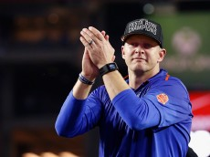 GLENDALE, AZ - DECEMBER 31:  Head coach Bryan Harsin of the Boise State Broncos celebrates after defeating the Arizona Wildcats 38-30 at University of Phoenix Stadium on December 31, 2014 in Glendale, Arizona.  (Photo by Christian Petersen/Getty Images)