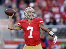 SANTA CLARA, CA - DECEMBER 28:  Colin Kaepernick #7 of the San Francisco 49ers in action against the Arizona Cardinals at Levi's Stadium on December 28, 2014 in Santa Clara, California.  (Photo by Ezra Shaw/Getty Images)