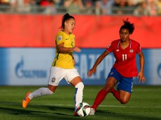 during the FIFA Women's World Cup 2015 Group E match at Moncton Stadium on June 17, 2015 in Moncton, Canada.