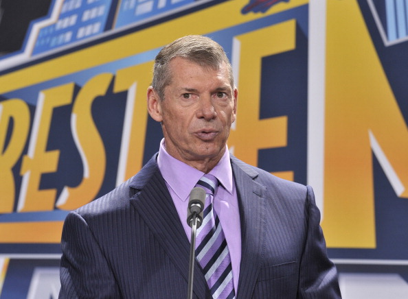 EAST RUTHERFORD, NJ - FEBRUARY 16: Vince McMahon attends a press conference to announce that WWE Wrestlemania 29 will be held at MetLife Stadium in 2013 at MetLife Stadium on February 16, 2012 in East Rutherford, New Jersey. (Photo by Michael N. Todaro/Getty Images)