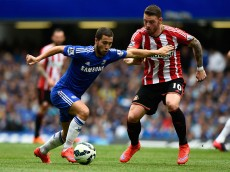 during the Barclays Premier League match between Chelsea and Sunderland at Stamford Bridge on May 24, 2015 in London, England.