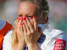 during the FIFA Women's World Cup Semi Final match between Japan and England at the Commonwealth Stadium on July 1, 2015 in Edmonton, Canada.