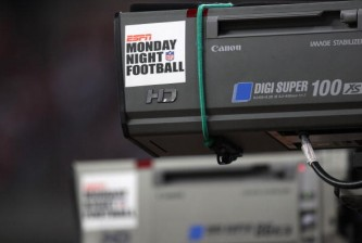 HOUSTON - NOVEMBER 23:  ESPN Monday Night Football cameras point during the game between the Tennessee Titans and  the Houston Texans on November 23, 2009  at Reliant Stadium in Houston, Texas.  The Titans won 20-17.  (Photo by Stephen Dunn/Getty Images)