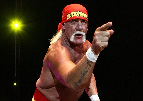 :PERTH, AUSTRALIA - NOVEMBER 24: Hulk Hogan gestures to the audience during his Hulkamania Tour at the Burswood Dome on November 24, 2009 in Perth, Australia. (Photo by Paul Kane/Getty Images)