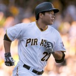 PITTSBURGH, PA - AUGUST 22:  Jung Ho Kang #27 of the Pittsburgh Pirates rounds first after hitting a solo home run in the fifth inning during the game against the San Francisco Giants at PNC Park on August 22, 2015 in Pittsburgh, Pennsylvania.  (Photo by Justin K. Aller/Getty Images)