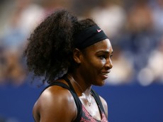 NEW YORK, NY - AUGUST 31:  Serena Williams of the United States looks on after defeating Vitalia Diatchenko of Russian in their Women's Singles First Round match on Day One of the 2015 US Open at the USTA Billie Jean King National Tennis Center on August 31, 2015 in the Flushing neighborhood of the Queens borough of New York City.  (Photo by Clive Brunskill/Getty Images)