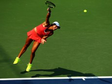 on Day Two of the 2015 US Open at the USTA Billie Jean King National Tennis Center on September 1, 2015 in the Flushing neighborhood of the Queens borough of New York City.
