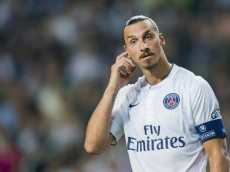 HONG KONG - JULY 29:  Zlatan Ibrahimovic of Paris Saint-Germain reacts during the friendly match between Kitchee and Paris Saint-Germain at Hong Kong Stadium on July 29, 2014 in Hong Kong, Hong Kong.  (Photo by Victor Fraile/Getty Images)