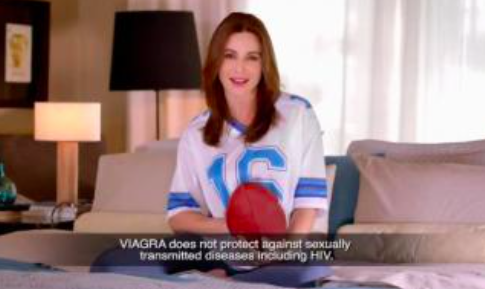 Viagra commercial football jersey