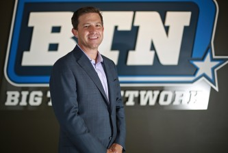 Big Ten Network President Mark Silverman poses for a photograph at the company's office in Chicago on Sept. 12, 2013. (John J. Kim/Chicago Tribune/TNS)