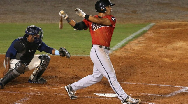 Johnson has not slowed down after an impressive Spring Training. Credit: Mike Brantley, AL.com