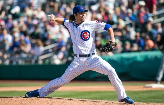 Putnam pitching for the Cubs last season. Credit: Stephen Green