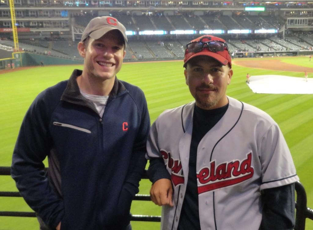 The founders of BurningRiverBaseball, Mike Melaragno (left) and Joseph Coblitz (right).