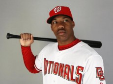 VIERA, FL - FEBRUARY 21:  Destin Hood #81 of the Washington Nationals poses during photo day at Roger Dean Stadium on February 21, 2009 in Viera, Florida.  (Photo by Doug Benc/Getty Images)
