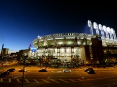 CLEVELAND, OH - OCTOBER 02:  An exterior view of stadium prior to the American League Wild Card game between the Tampa Bay Rays and the Cleveland Indians at Progressive Field on October 2, 2013 in Cleveland, Ohio.  (Photo by Jason Miller/Getty Images)
