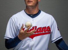 GOODYEAR, AZ - FEBRUARY 24: Trevor Bauer #47 of the Cleveland Indians poses for a portrait at Goodyear Ballpark on February 24, 2014 in Goodyear, Arizona. (Photo by Rob Tringali/Getty Images)