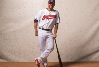 GOODYEAR, AZ - FEBRUARY 24: Nick Swisher #33 of the Cleveland Indians poses for a portrait at Goodyear Ballpark on February 24, 2014 in Goodyear, Arizona. (Photo by Rob Tringali/Getty Images)