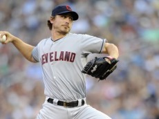 MINNEAPOLIS, MN - JULY 27: Josh Tomlin #43 of the Cleveland Indians delivers a pitch against the Minnesota Twins during the second inning on July 27, 2012 at Target Field in Minneapolis, Minnesota. (Photo by Hannah Foslien/Getty Images)