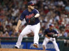 CLEVELAND, OH - JUNE 3:  Cody Allen #37 of the Cleveland Indians pitches against the Boston Red Sox in the eighth inning on June 3, 2014 at Progressive Field in Cleveland, Ohio.  Cleveland defeated Boston 5-3.  (Photo by David Maxwell/Getty Images)