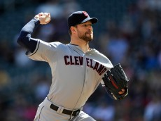 MINNEAPOLIS, MN - SEPTEMBER 21: Corey Kluber #28 of the Cleveland Indians delivers a pitch against the Minnesota Twins during the first inning of the game on September 21, 2014 at Target Field in Minneapolis, Minnesota. (Photo by Hannah Foslien/Getty Images)