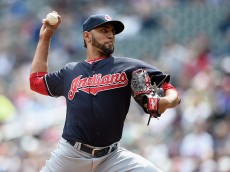 MINNEAPOLIS, MN - APRIL 18: Danny Salazar #31 of the Cleveland Indians delivers a pitch against the Minnesota Twins during the first inning of the game on April 18, 2015 at Target Field in Minneapolis, Minnesota. (Photo by Hannah Foslien/Getty Images)