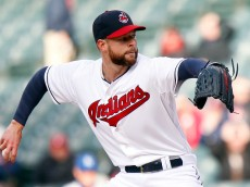 CLEVELAND, OH - APRIL 27:  Corey Kluber #28 of the Cleveland Indians pitches against the Kansas City Royals during the first inning of their game on April 27, 2015 at Progressive Field in Cleveland, Ohio.  (Photo by David Maxwell/Getty Images)