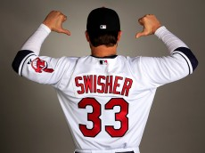 GOODYEAR, AZ - FEBRUARY 26:  Nick Swisher #33 poses during Cleveland Indians Photo Day on February 26, 2015 in Goodyear, Arizona.  (Photo by Jamie Squire/Getty Images)