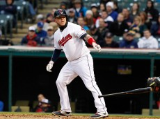 CLEVELAND, OH - APRIL 27: Roberto Perez #55 of the Cleveland Indians walks against the Kansas City Royals during the fourth inning of their game on April 27, 2015 at Progressive Field in Cleveland, Ohio. The Royals defeated the Indians 6-2. (Photo by David Maxwell/Getty Images)